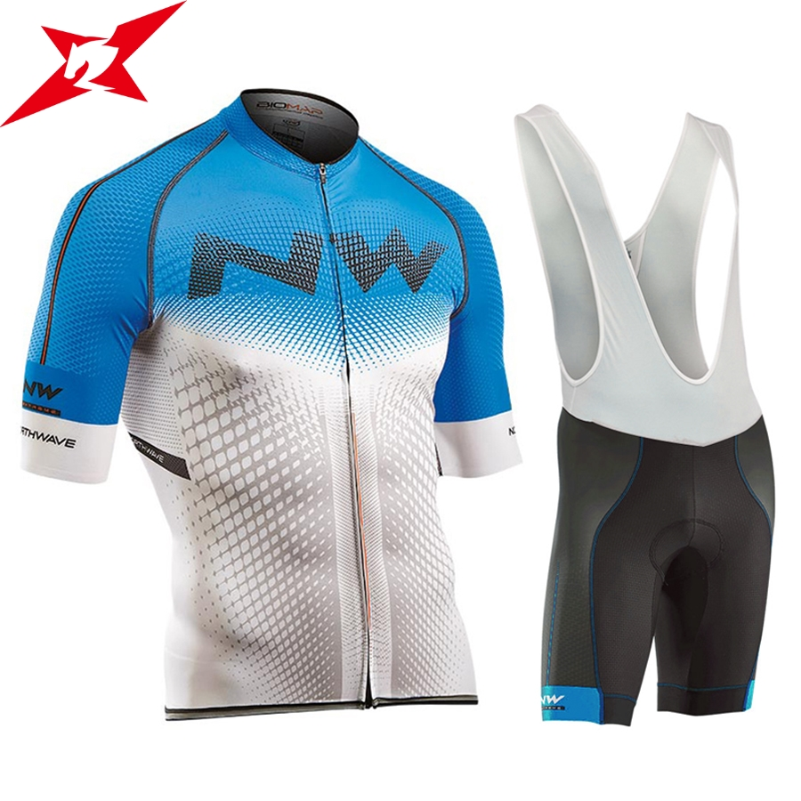 2017 NW New Short Sleeves Pro Team Cycling Jerseys Set Bib Pants Quick Dry Breathable Ropa Maillot Ciclismo 9D Gel Pad #612