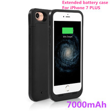2017 New 7000mAh Extended Rechargeable Battery Case Power Bank Cover Portable Charger Battery Pack for iPhone 7 7 Plus 5.5''