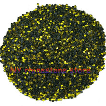 14400pcs/bag,Hotfix rhinestone,SS5(1.6mm) B Grade,Crystal yellow glass Crystal Rhinestone Garment Accessories for dress,clothes(China)