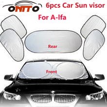 6pcs/set Car sun visor sunscreen insulation curtain sun block light Front/Rear shade anti UV auto windshield windows sun file