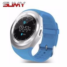Slimy Bluetooth Smart Watches for Android Phone Full Circle Touch Screen Sport Fitness SIM TF Card For iphone Apple IOS Android(China)