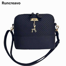 HOT SALE!2018 Women Messenger Bags Fashion Mini Bag With Deer Toy Shell Shape Bag Women Shoulder Bags Handbag bolsa feminina(China)