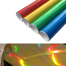 10cm*100cm Chrome Laser Car Sticker Holographic Wrap Rainbow Vinyl Film Laser Plating Color Change Auto Wrap Sheet Car styling