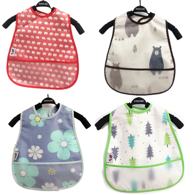 DreamShining Baby Bibs EVA Waterproof Lunch Bibs Cartoon Fruits Printing Infants Bibs Boys Girls Feeding Burp Cloths Bibs Apron(China)