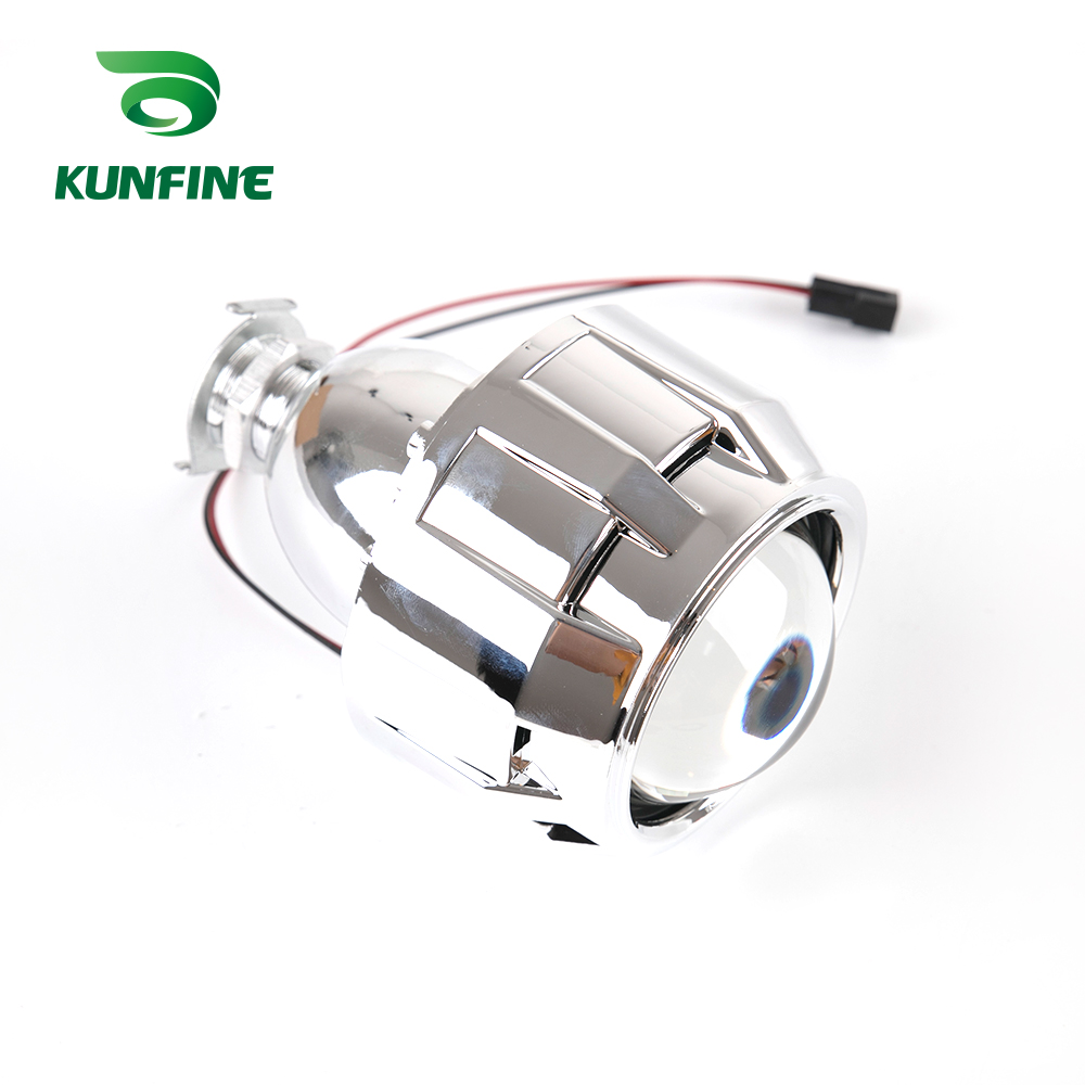 KUNFINE 2PCSlot 2.5 inch Bi-Xenon HID Projector Lens With high low beam for car headlight H1 halogen or xenon bulb (2)