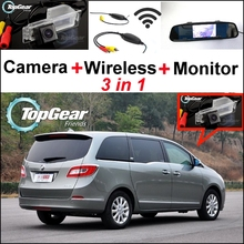 3in1 Special WiFi Rear Camera + Wireless Receiver + Mirror Monitor Parking BackUp System For Buick GL8 2011~2014