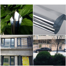 Two Way UV-proof Reflective Mirror Window Film Insulation Film Self Adhesive Sticky Sticker PET Film 100x30cm(China)