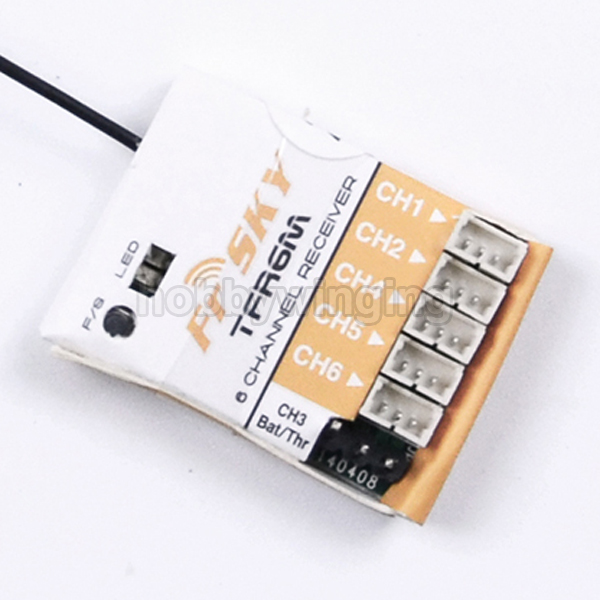 FrSky TFR6M 2.4G 6ch FASST compatible micro receiver<br><br>Aliexpress