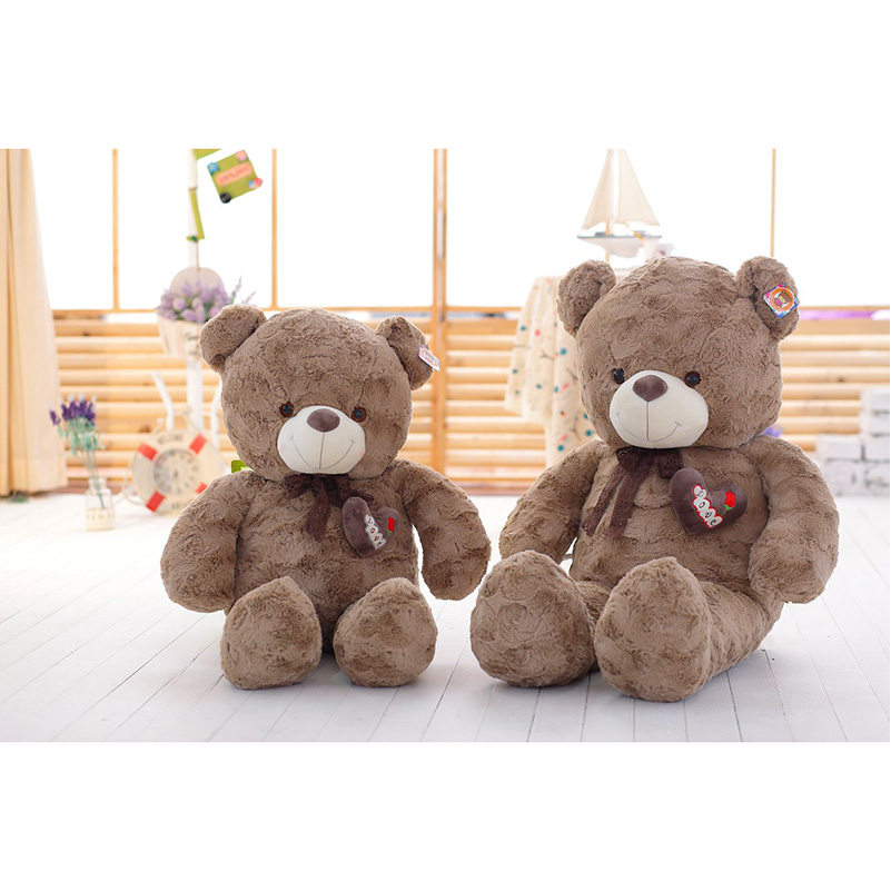 New80cm/100cm Fashion Curly Bears Sitting Teddy Bear Soft Plush Stuffed Toys Teddy Bears Soft Dolls For Valentines Day Gift<br>