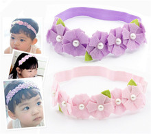 Top Quality Felt Flower Headband Pink Purple Rainbow Colour Floral Headband Girl Pastoral Hairband Fashion New Vintage Head Wear