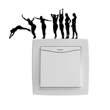 Diving Women Fashion Vinyl Decor Light Switch Sticker Door Wall Decal 5WS0205