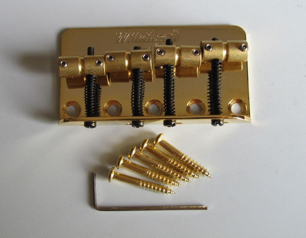 Wilkinson Bass Bridge w/ Brass Saddles fits P Precision Bass JB Gold<br>