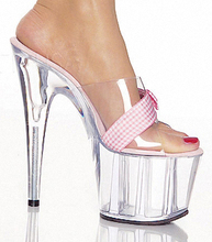 Transparent fashion women's shoes Cinderella's glass slipper shoes during summer high-heeled shoes