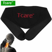 * Tcare 1Pcs Tourmaline Neck Belt Self-heating brace magnetic Therapy Wrap Protect band Neck Support Massager belt Health Care(China)