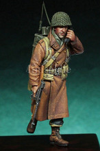 1/35 Scale WW2 Battle of the Bulge American soldiers soldiers radio WWii Figure Resin Model Kit Free Shipping