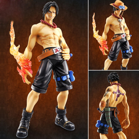 Genuine High-end Action Toy Figures One Piece Portgas D Ace ver 1.5 Hand Office Doll Models<br>