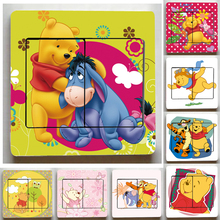 12 Kinds style Winnie the Pooh Light Switch Stickers,Super Cute Pooh Wall Stickers,For Children Room Decor Light Switch stickers