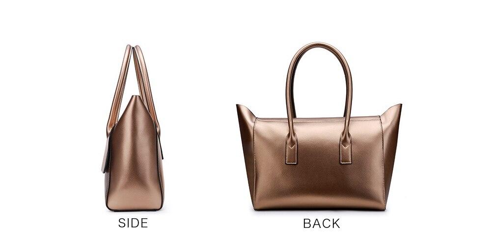 Genuine Leather Ladies HandBags Women Genuine Leather bags Totes Shoulder Bag Hign Quality Designer Luxury Brand Bag Golden M1