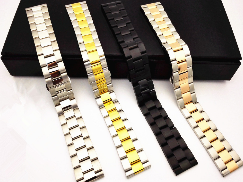 1PCS High quality 18MM 20MM 22MM 24MM Solid Stainless steel 304 watch strap Watch band men and woman watch bands -WBT005<br><br>Aliexpress