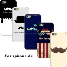 2017 phone case the latest fashion of United States bearded black hard cover protective shell for iPhone 5C case