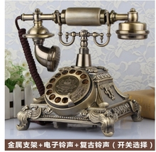 Fashion Antique telephone vintage old fashioned solid home phone Rotation dial(China)