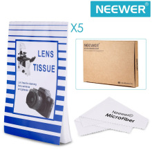 Neewer Camera Lens Cleaning Tissue & Cloth Kit:250 Sheets of Disposable Lens Cleaning Paper Lintless Tissue+Microfiber Cloth