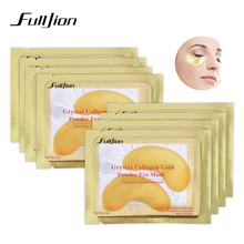 Fulljion Natural Crystal Collagen Golden Eye Mask Anti-Aging Face Care Sleeping Eye Patches Eliminates Dark Circles Fine Lines