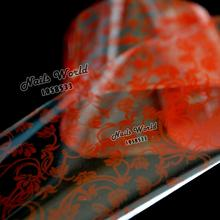 100cm x 4cm Red Flowers Transfer Foil Nails Art Hot Design Sticker Decal For Polish Care DIY S69