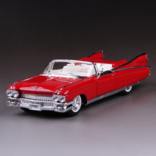 Cadillac Series 62 convertible classic car Maisto 1:18 1959 Original alloy car model simulation Classic cars PINK