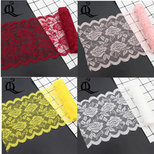 mix color 15cm 1yards width elastic lace elastic sewing ribbon guipure lace trim or fabric warp knitting DIY Garment Accessories