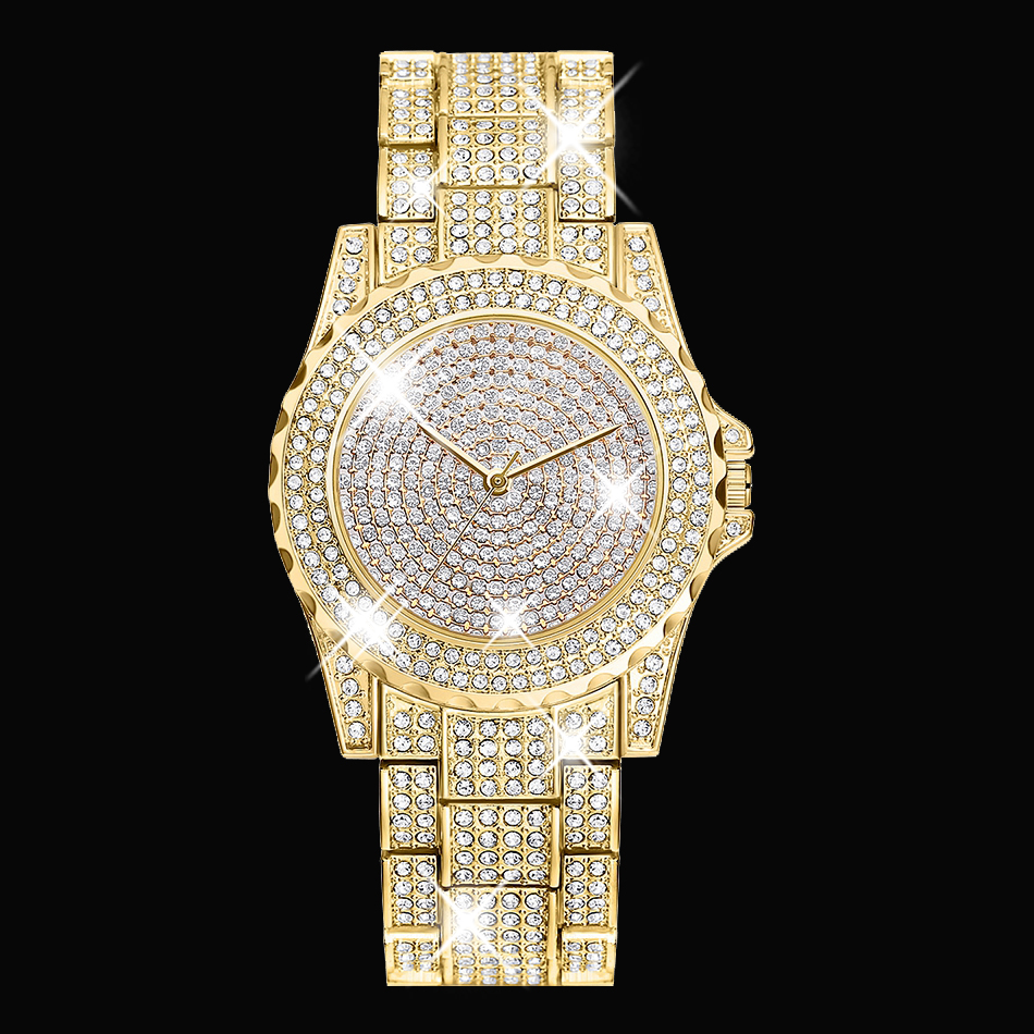 2017 Arrival Famous Brand Bling Watch Women Luxury Austrian Crystals Watch Rose Gold Shinning Diomand Rhinestone Bangle Bracelet<br><br>Aliexpress