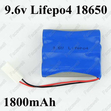1pcs brand 9.6v 1800mah 18650 LiFePO4 9.6v battery pack cells 3s 2000mAh high drain 10A cells for battery pack RC Not nimh nicd