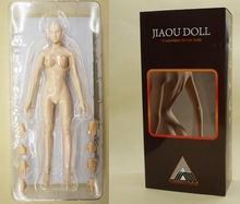 JIAOU DOLL 1/6 FeMale soft silicom body DIY Collectible Action Figure Mannequin female joint doll encapsulated ferrite
