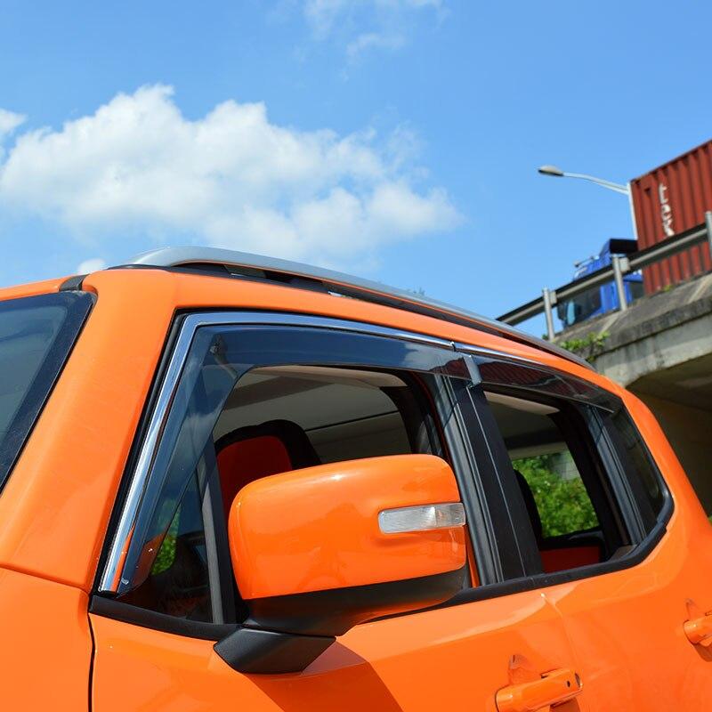 Jeep Renegade AUTO JDM Rain Window Visor Rain Guard Deflector Accessory For 15