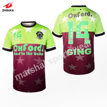 high quality OEM dry fit soccer jersey t-shirt thai quality full sublimation custom t-shirt