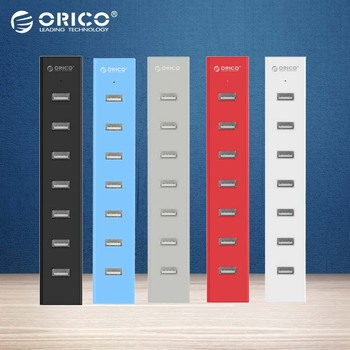 ORICO H7013-U2 7 Ports USB 2.0 HUB for MAC Notebook Perfectly with 30CM Data Cable - Black/White/Gray/Blue