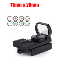 DSstyles Red dot 20mm 11mm Rail Riflescope Hunting Optics Scope Tactical HolographicMro Sight Reflex 4 Reticle Tactical red dot