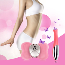 Ckeyin Electronic Butterfly Muscle Pulse Massager Body Slimming Fat Burner +Electric Eye Massage Magic Stick Anti-wrinkle Pen 44(China)