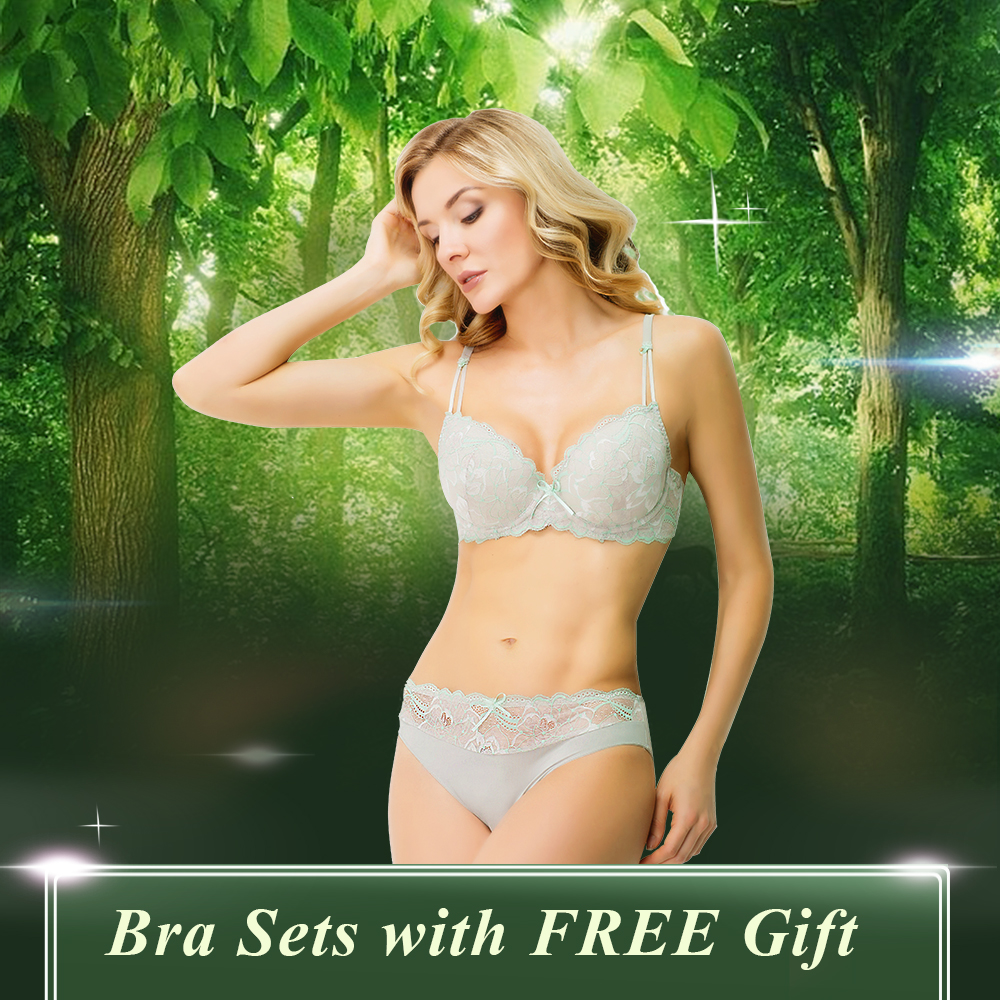 Wholesale TOP Quality Push Up Bra and Brief Set Ba...