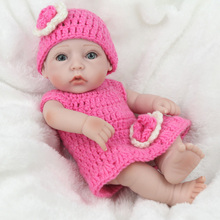 Original NPKDOLL lifelike reborn baby dolls girl toy suits vivid pink clothes photography props silicone reborn babies(China)