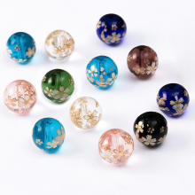 Colorful Crack Glass Crystal Printed Beads For Jewelry Making Stone Findings For DIY Bracelet Necklace 10mm 12mm