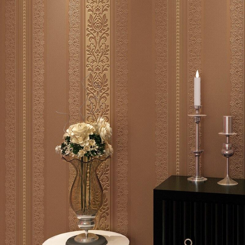 Modern Jane O relief stripes non - woven living room bedroom restaurant TV sofa background wallpaper<br><br>Aliexpress
