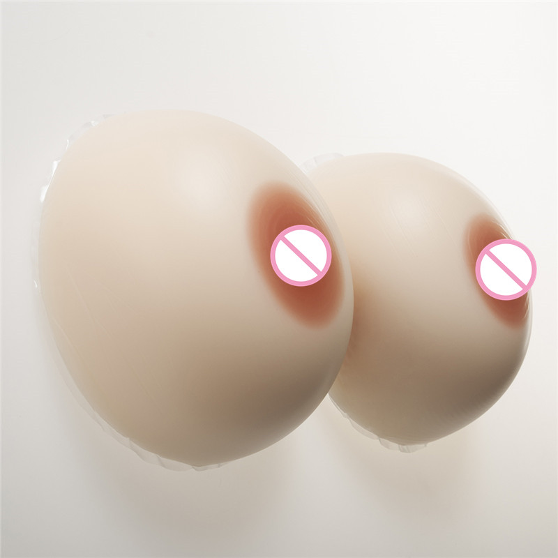 1600g/Pair Silicone False Breast Forms Drag Queen Crossdresser Transgender Shemale Soft Silicone Fake Boobs Classic Round