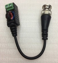 2pcs /Lot BNC CAT5 Twisted Pair UTP Video Balun Passive Transceiver Fine Copper For CCTV Camera