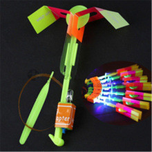 2016 Lowest Price Hot Funny Shining Rocket Flash Copter Arrow Helicopter Neon Led Light 600 PCS/LOT dhl FREE SHIING(China)