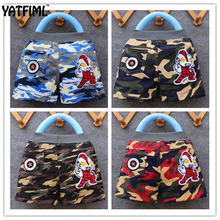 YATFIML 2017 Boys shorts kids wear Camouflage Army sport short Summer Girls fashion New design short pants Childrens trousers
