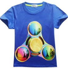 2017 Hot Fidget Spinner Pattern Children Clothes Kids Boys Girl T Shirt Cotton Boys Top Tees T-Shirt Child Gift Hand Spinner