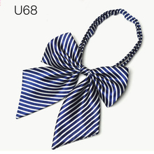 Hotel Butterfly Knot Striped Bow Tie Business Women High School Girl Student Cosplay Uniform Formal Suit Accessories Cravat