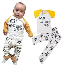 Panda animal Outfit Baby Boy Clothes T-Shirt Long Pants Outerwear sets 2T 3T