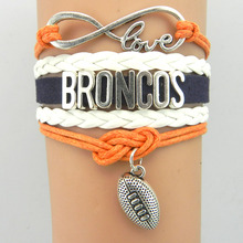Buy infinity love Denver Broncos bracelet football charm bracelets & bangles sport team gift women men jewelry drop for $1.18 in AliExpress store